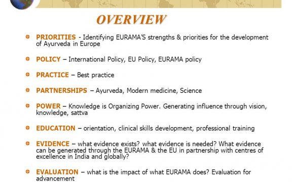 Ayurveda in Europe POLICY