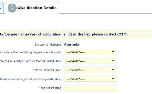 CCIM Ayurveda registration
