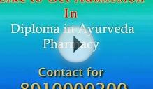 801200|Diploma in Ayurveda pharmacy| Distance learning