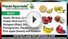 Diet Plan for Pitta Prakriti People | Diet in Pitta Dosha