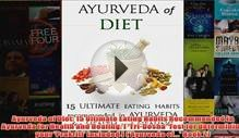 Download PDF Ayurveda of Diet 15 Ultimate Eating Habits