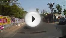 Driving in front of Govt Ayurveda College - Tripunithura