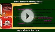 herbs used for the treatment of premature ejaculation